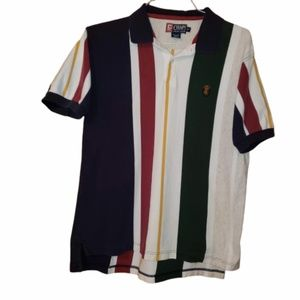 Chaps Muiticolor stripe short sleeve polo shirt